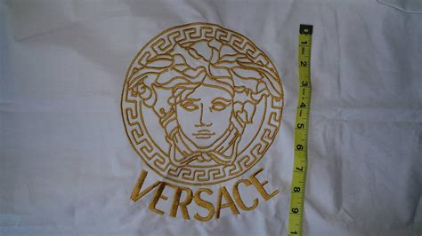 versace pattern logo versace logo machine embroidery design showcase with