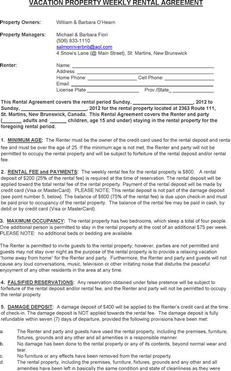 Rent And Lease Template Template Free Download Speedy Template Vacation Property Rental Agreement Template
