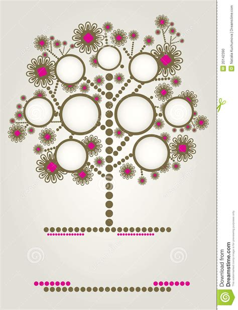 Vector Family Tree Design With Frames Stock Photo Image 20142390 Vector Family Tree Design With Frames And Autumn Leafs Place For Text