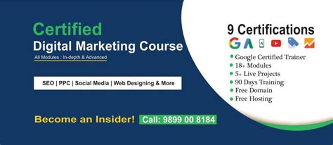 Digital Marketing Degree Course by Top 15 Term Courses Delhi Noida India 2019