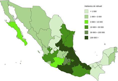 esinciclopedia de poblacion de mexico archivo nahuatl speakers in mexico in 2010 svg wikipedia