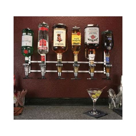 liquor wall rack precision pours rack pour wm 6 bottle wall mount liquor dispenser liquor dispensers zesco com