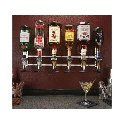 Liquor Bottle Rack by Precision Pours Rack Pour Wm 6 Bottle Wall Mount Liquor