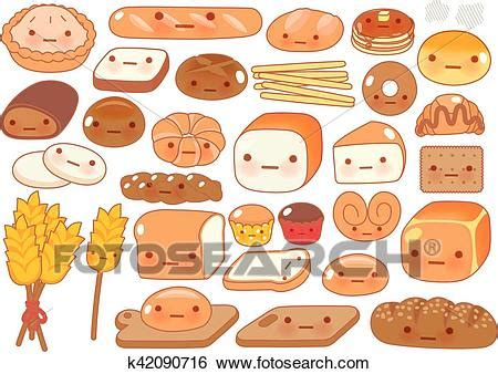 food doodle bread clip of collection of lovely baby bakery food doodle