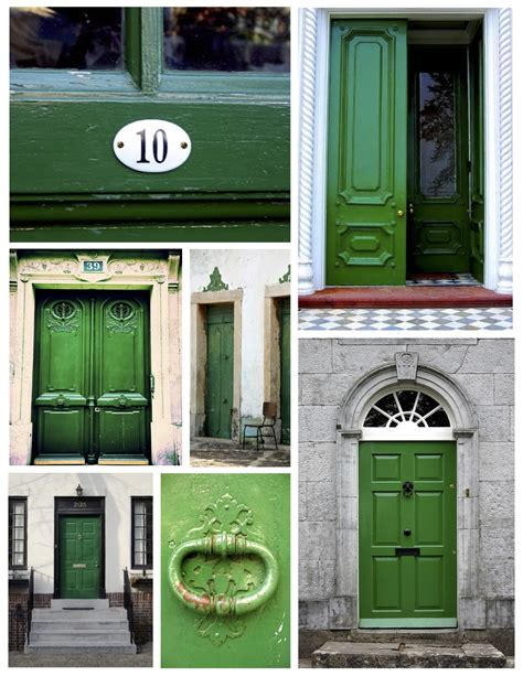 Green Exterior Door Exterior Color Inspirations The Brilliant Vibrant Painted Green Door House Appeal