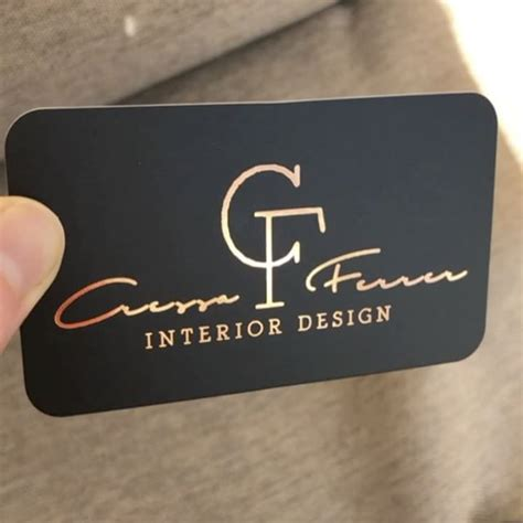 Copper Foil Business Cards