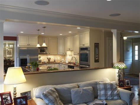 Half Wall Ideas For Kitchen Traditional Kitchen Open Open Floor Plan Kitchen And Den