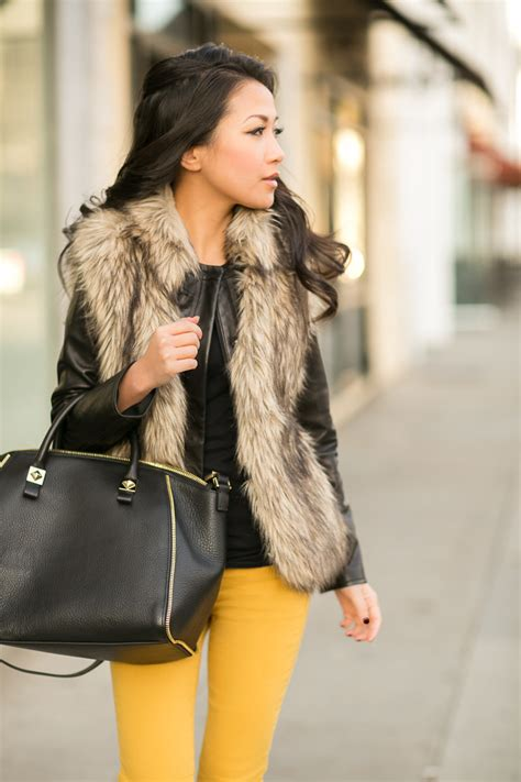 with fur vest how to wear a fur vest 8 styles to try modlychic