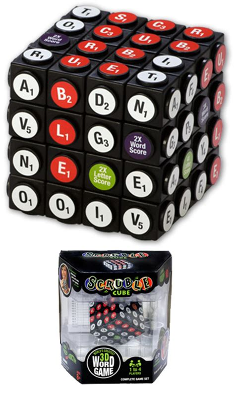mechanics of scrabble scruble cube combines scrabble and rubik s cube for a