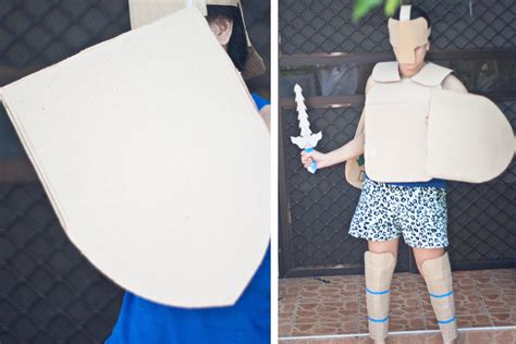 How To Make Armor Out Of Paper - how to make cardboard armour 9 steps with pictures