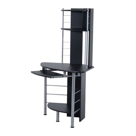 Corner Desk Tower Homcom 45 Quot Arch Tower Corner Computer Desk Black Desks Home Office Home Goods