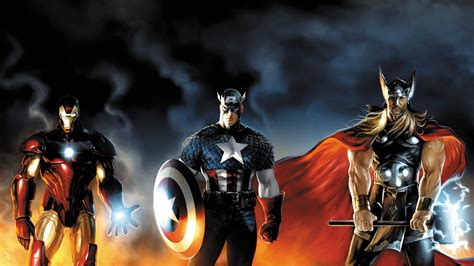 captain america thor ironman wallpaper comics thor captain america iron man wallpapers hd