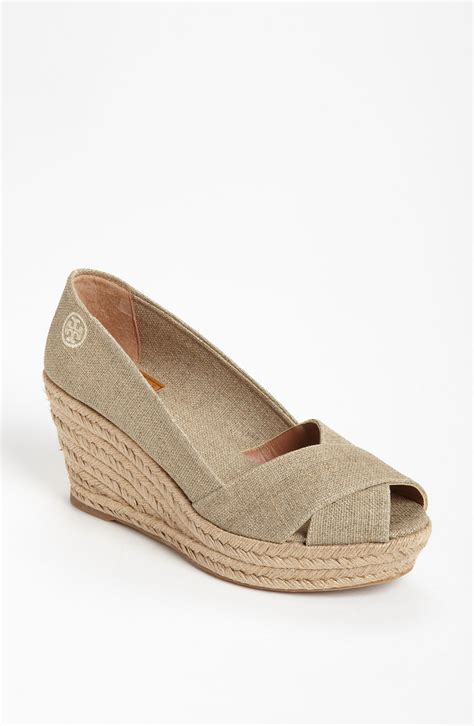 Wedges Gloss Gold burch filipa wedge espadrille in lyst