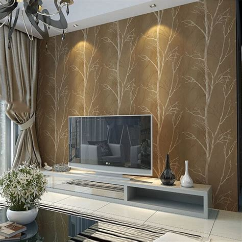 Tree Design Wallpaper Living Room by Design Tree Forest Textured Wallpaper Roll