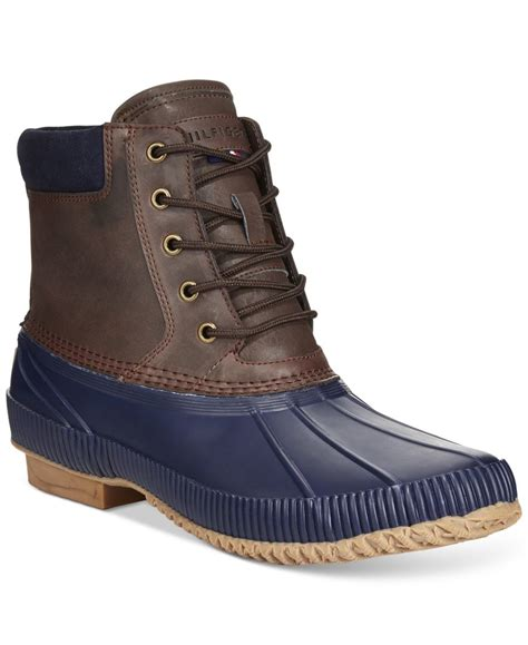 hilfiger s boots hilfiger s duck waterproof boots in blue