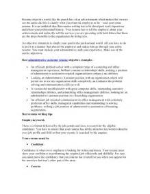 Resume Objectives For Administrative Assistants Exles by Best Administrative Assistant Resume Objective Article1