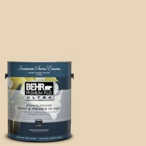 behr premium plus ultra 1 gal ul150 11 sand pearl interior satin enamel paint 775001 the