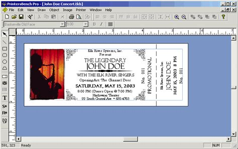 image detail for event ticket stub template software