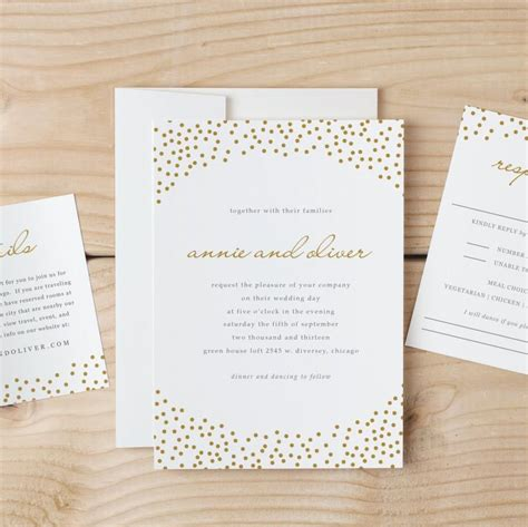 Wedding Font On Mac by Wedding Invitation Template Gold Dots Word Or