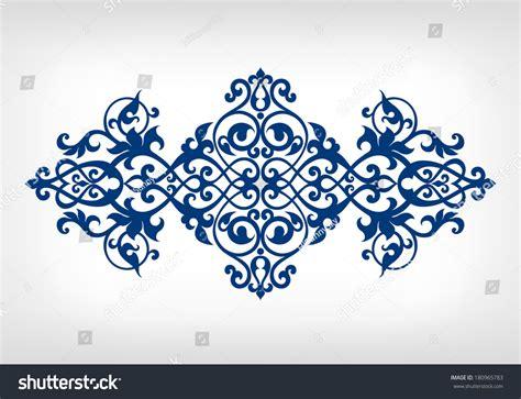 vector vintage baroque calligraphy border frame stock