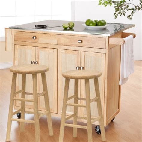 kitchen island cart with stools the portable kitchen island with optional stools