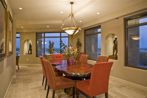 contemporary western interior dining room rustic
