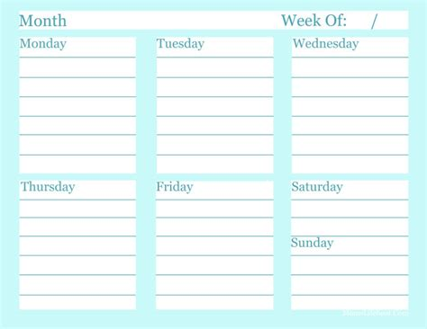 weekly to do list free printable