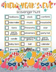 new year s eve scavenger hunt for kids free printable