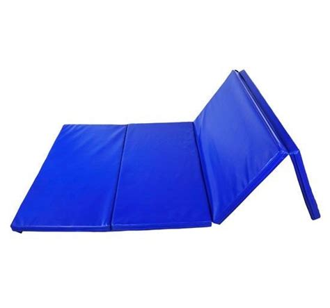 blue gymnastics mats folding exercise