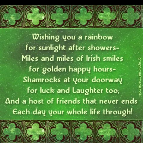 irish saying wishing you a rainbow for sunlight after