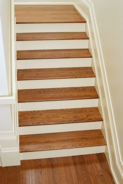 oak stair treads white oak stair treads craftsman staircase other