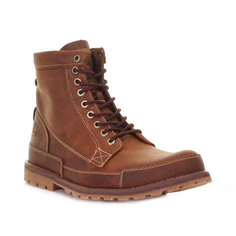leather timberland boots timberland earthkeepers rugged 6 inch burnished brown