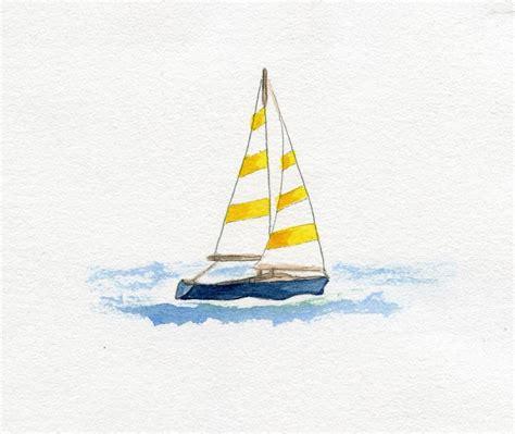 simple sailboat sailboat simple watercolor pinterest boating