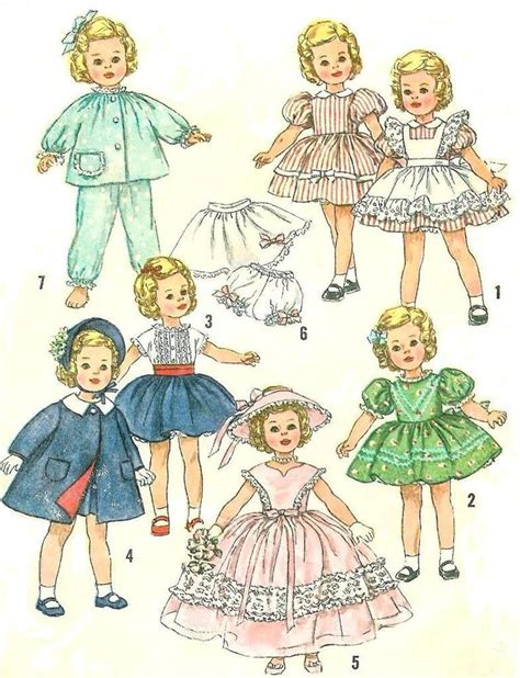 vintage 19 quot shirley temple doll clothes pattern 3217 ebay