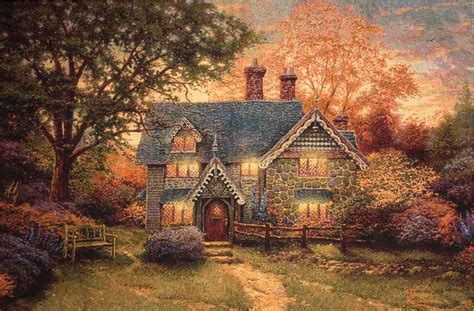 The Tapestry Cottage by Gingerbread Cottage Tapestry American Wall Tapestries And Wall Hangings