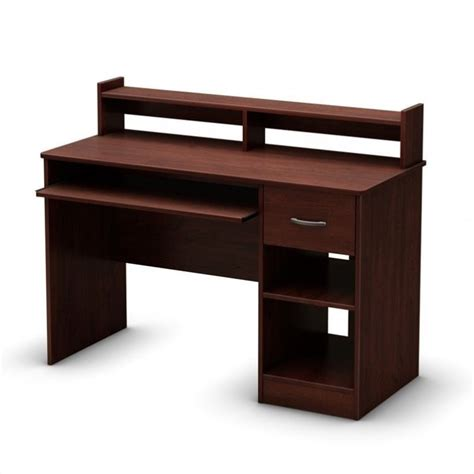 South Shore Computer Desk South Shore Axess Computer Desk In Royal Cherry 7246076
