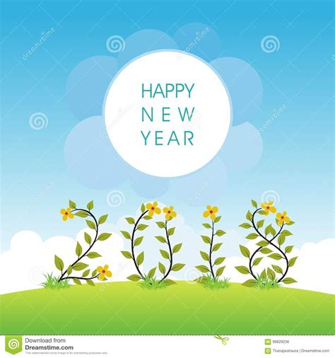 new year card design ai happy new year 2018 stock vector image of background