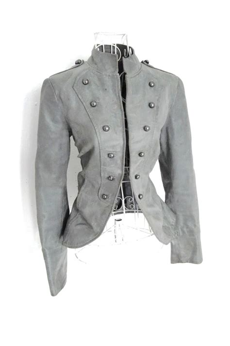 riding jackets for sale sale vintage leather grey gothic military jacket steunk