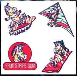 20 zebra fruit stripe gum temporary tattoos free ship ebay