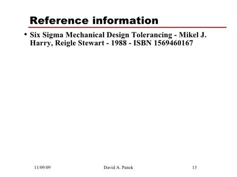 Tolerance Analysis Spreadsheet by Six Sigma Mechanical Tolerance Analysis 1