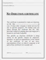 5 no objection certificate templates certificate templates