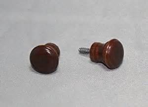 mahogany wood piano desk knobs with screws 1 pair