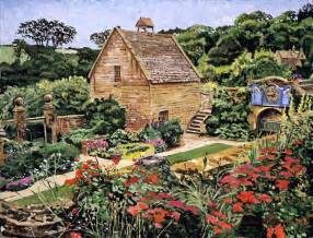 English Stone Cottage House Plans country stone manor house painting by david lloyd glover