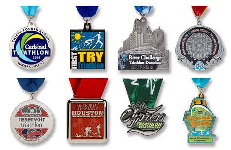Handmade Medals - custom triathlon medals