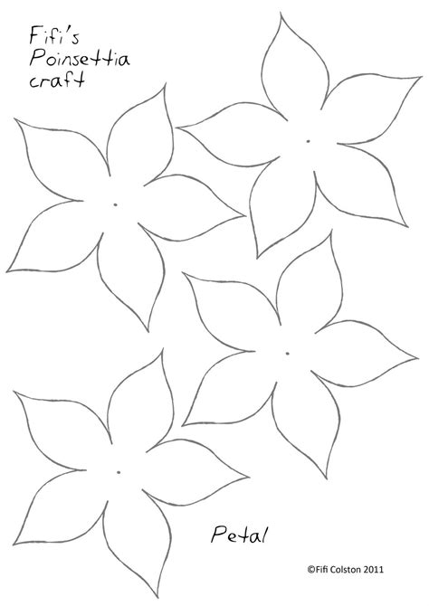 paper poinsettia flowers pattern poinsettia paper flower template pinteres