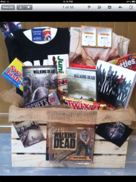 the walking dead gifts walking dead gift basket walking dead