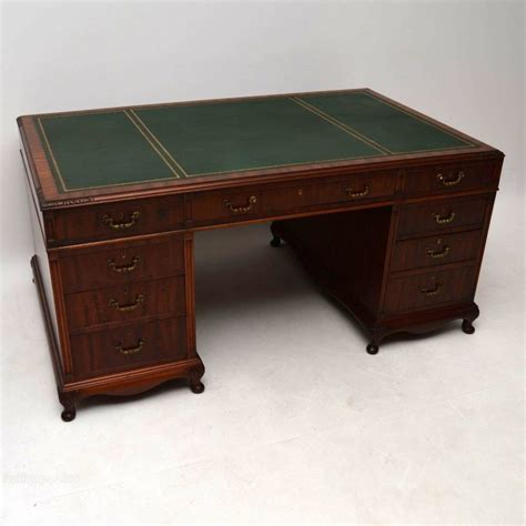 Large Antique Mahogany Pedestal Desk Antiques Atlas Antique Mahogany Desk