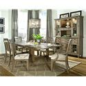 Legacy Classic Brownstone Slat Back Legacy Classic Brownstone 7 Dining Set With Rectangular Leg Table Slat Back Side