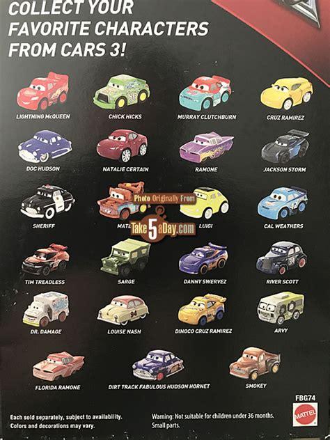 Cars Mini 3 Racers No 1 2 3 4 No 5 mattel disney pixar cars 3 more mini s are coming every