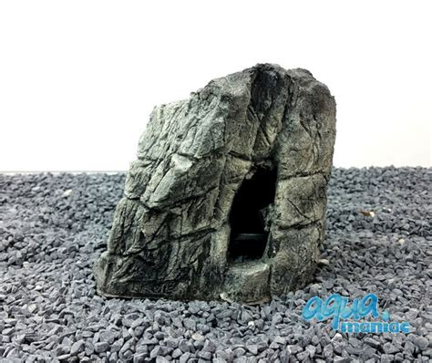 Lu Aquarium Mini aquarium mini beige cave rock hide for tropical fish tanks
